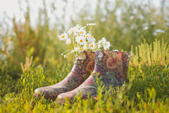 Rubber boots Stock Photography