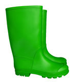 Rubber boots - green Royalty Free Stock Photography