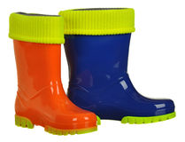 Rubber boots for kids isolated on white background Stock Photography