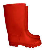 Rubber boots - red Royalty Free Stock Photos