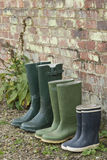 Rubber Boots In Row Stock Images