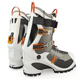 Rubber boots. Ski boots modern style, isolated on white background stock illustration