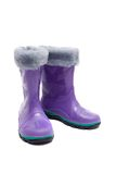 Rubber boots for teen girls Stock Photo