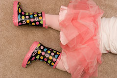 Rubber Boots and Tutu Royalty Free Stock Photo