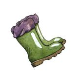 Rubber boots Royalty Free Stock Photography