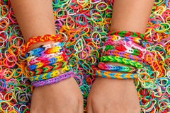 Rubber bracelets Royalty Free Stock Image