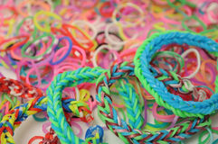 Rubber bracelets Royalty Free Stock Images
