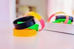 Rubber bracelets Stock Image