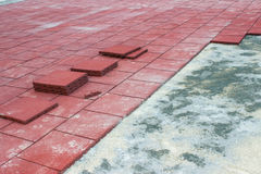 Rubber Brick Pavers 2 Stock Photos