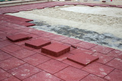 Rubber Brick Pavers 3 Royalty Free Stock Photography