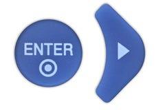 Rubber button Royalty Free Stock Photos