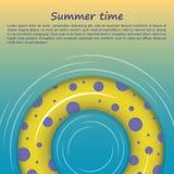 Rubber cirkel på guling-blått bakgrund royaltyfri illustrationer
