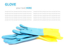 Rubber cleaning gloves isolated on white Royalty Free Stock Photos