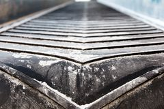 Rubber conveyer belt Royalty Free Stock Photography