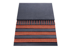 Rubber conveyor belt. Close-up rubber conveyor belt Stock Photography