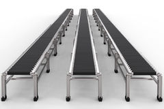 Rubber conveyor belts Royalty Free Stock Images