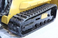 Rubber crampons in tractor. / excavator / Close up royalty free stock photo
