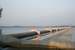 Rubber dams on The Yangtze River Royalty Free Stock Images