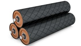 Rubber drum conveyor pulley Royalty Free Stock Photography