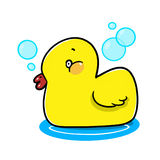 Rubber duck cartoon Royalty Free Stock Photography