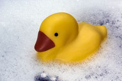 Rubber Duck in a Bathtub Stock Photos