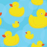 Rubber duck blue pattern Royalty Free Stock Image