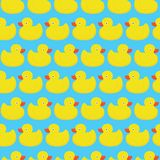 Rubber duck blue pattern Royalty Free Stock Photos