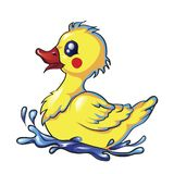 Rubber Duck Cartoon Character stock illustration