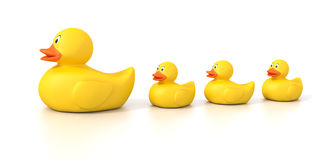 Rubber duck family. An image of a sweet rubber duck family stock illustration