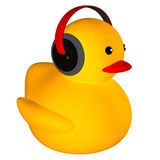 Rubber duck listing music. For adv or others purpose use Royalty Free Stock Photography