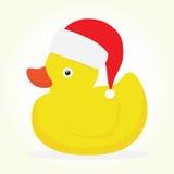 Rubber duck merry christmas Stock Photos