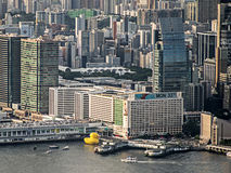 Rubber Duck Project, Hong Kong. A Giant Yellow Rubber Duck by Florentijn Hofman royalty free stock images