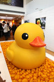 Rubber Duck Project i Hong Kong Royaltyfria Foton
