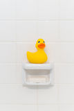 Rubber Duck in Shower Royalty Free Stock Photo