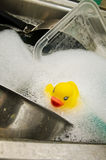 Rubber Duck in Sink Royalty Free Stock Photos