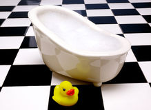 Rubber Duck On Tile Royalty Free Stock Images