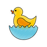 Rubber duck toy icon Royalty Free Stock Photo