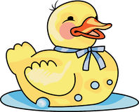 RUBBER DUCK ON WATER Royalty Free Stock Photography