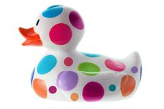 Rubber Duck. On White Background Royalty Free Stock Photo