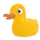Rubber Duck on White Background royalty free stock photo