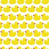 Rubber duck white pattern Royalty Free Stock Photo