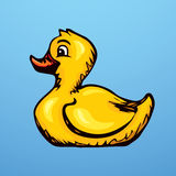 Rubber Ducking. Vector Drawing Royalty Free Stock Photo
