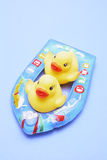 Rubber Ducks on Inflatable Boat Royalty Free Stock Photo