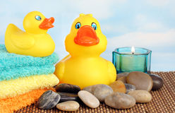 Rubber Ducks at the Spa Stock Image