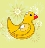 Rubber ducky. Children's picture - the yellow rubber ducky Royalty Free Stock Photos