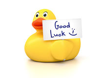 Rubber Ducky Good Luck. An image of a nice rubber duck with good luck stock illustration