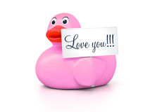 Rubber Ducky Love You Stock Photography