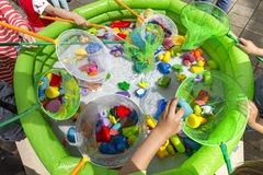 Rubber ducky pool playground Royalty Free Stock Photography