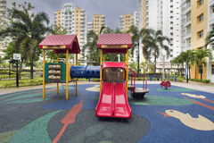 Rubber Ducky Theme Children Playground Stock Images
