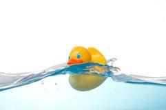 Rubber Eend in Water royalty-vrije stock fotografie